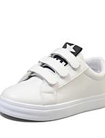 Women's Sneakers Formal Shoes Fall PU Casual Dress Magic Tape Flat Heel Blue Ruby Black 1in-1 3/4in