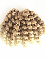 Tresses bouclés Bouclé Bouncy Curl Crochet Tricots aux cheveux humains 100% cheveux kanekalon Cheveux 100 % Kanekalon Blond Fraise /