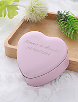 10 Favor Holder-Heart-shaped Metal Favor Boxes Candy Jars and Bottles