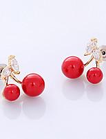 Women's Stud Earrings Basic Rhinestone Jewelry For Wedding Party Birthday Engagement Gift
