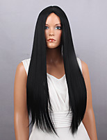 Creative Stylish Black Long Straight  Synthetic Wigs