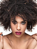 Short Afro Kinky Curly Wigs Heat Resistant Synthetic Hair 2 Tone Mixed Brown Color Natural Cosplay Wigs For Black Wome