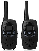 1 Watt long range black 2pcs walkie talkie radio scanner FRS GMRS 2 way CB radios UHF PTT VOX transmitter PMR for kids