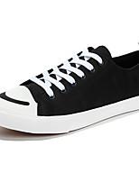 Men's Sneakers Comfort Summer Canvas Casual Outdoor Lace-up Flat Heel Black Green Flat