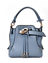 Women Bags All Seasons PU Tote with for Casual Blue