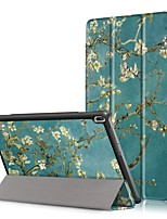 Cubierta de la funda de impresión para lenovo tab4 tab 4 10 x304f tb-x304f tab4-x304n tb4-x304 con protector de pantalla
