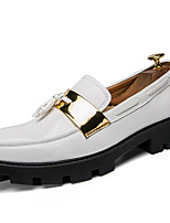 Men's Loafers & Slip-Ons Formal Shoes Fall Winter Patent Leather Casual Outdoor Office & Career Party & Evening Blue Black White 1in-1