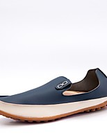 Men's Loafers & Slip-Ons Moccasin Light Soles Spring Summer Leatherette Casual Office & Career Flat Heel Dark Blue Beige Flat