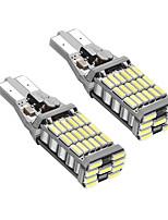 1 пара t15 ошибка шины без ошибок led drl t15 w16w led back-up светлый белый цвет