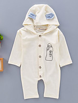 Baby Embroidered One-Pieces,Cotton Spring Fall Long Sleeve