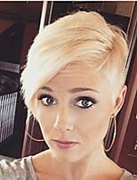 Novel  Fluffy  Oblique Fringe  Short Straight Hair  Human Hair Wigs