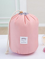 Women Cosmetic Bag Nylon All Seasons Round Toggle Blushing Pink Red Blue