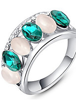 Couple Rings Band Rings Women's Fashion Luxury Elegant Creative Opal Oval Zircon Rings Party Daily Wedding Gift Jewelry