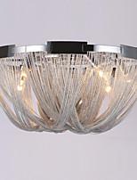 Luz de teto de fluxo de alumínio e12 / e14 / designer flush montado / prata / quarto dia60cm