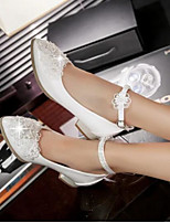 Women's Shoes PU Summer Comfort Heels For Casual White Green Blushing Pink
