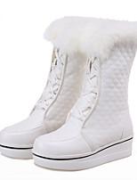Для женщин Ботинки Зимние сапоги Верховые ботинки Модная обувь Дерматин Осень Зима Повседневные Для праздника Для прогулокШнуровка В