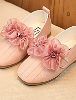 Girls' Sneakers Flower Girl Shoes Light Soles Fabric Summer Fall Casual Dress Flower Low Heel Blushing Pink Ruby White Under 1in
