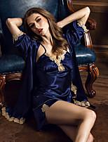 Pyjama Soie Rayonne Soie Glacée Femme
