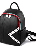 Women Backpack PU All Seasons Event/Party Casual Formal Outdoor Office & Career Traveling Professioanl Use Bucket Zipper Black 10-20