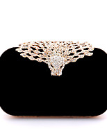 Women Bags All Seasons Velvet Evening Bag with Rhinestone for Wedding Event/Party Casual Formal Office & Career Black