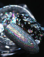 0.2g Holographic Silver Nail Flakeis Sequins 0.2g Bling Mirror Paillette Manicure Nail Art Tips Decoration