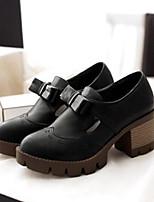 Femme Chaussures Polyuréthane Eté Confort Chaussures à Talons Pour Décontracté Noir Beige Gris