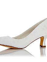 Mujer Tacones Confort Encaje Satén Otoño Invierno Boda Vestido Fiesta y Noche Blanco 5 - 7 cms