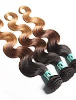 Омбре Малазийские волосы Естественные кудри 18 месяцев 3 предмета волосы ткет кг Пряди с быстрым креплением