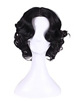 Synthetic  Cosplay Wig Princess Short Curly Black Wigs for Women Costume Wigs Capless Wigs