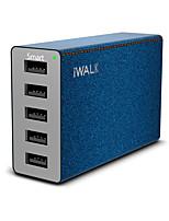 Chargeur USB 5 Ports Station de chargeur de bureau Avec identification intelligente Universel Adaptateur de charge