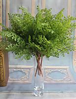 1 Branch Plastic Plants Tabletop Flower Artificial Flowers Flower Arrangement 7 Fork Ginkgo Leaves