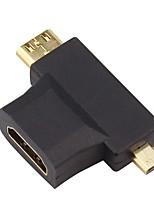 IT-CEO V7XF00 HDMI 1.4 Adapter HDMI 1.4 to Mini HDMI Micro HDMI Adapter Male - Female Gold-Plated Copper
