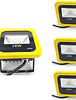 4pcs 10W Yellow Color Led Floodlight IP65 Warm/Cool White Waterproof Spotlight Outdoor Garden Lamp Floodlight Lighting AC85-265V