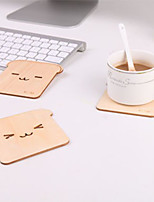 Japanese Cute Smile Bear Brich Coaster Coffee Cup Insulation Pad Heat Resistant Mat Random Style