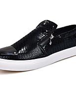 Для мужчин Мокасины и Свитер Удобная обувь Замша Весна Осень Повседневные Золотой Черный Серебряный На плоской подошве