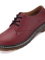 Men's Oxfords Comfort PU Spring Fall Winter Casual Flat Heel Dark Brown Light Brown Black Flat
