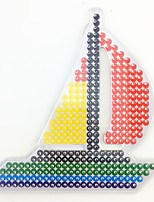 1PCS 5MM Fuse Beads Clear Template Pegboard Stencil Sailboat Sailing Boat Hama Perler Beads Pegboard Kid DIY Handmaking Educational Craft Jigsaw Toy
