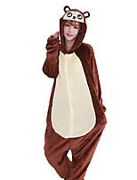 Kigurumi Pajamas Monkey Festival/Holiday Animal Sleepwear Halloween Fashion Embroidered Flannel Fabric Cosplay Costumes Kigurumi For