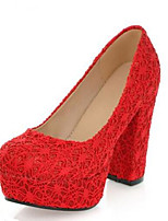 Women's Wedding Shoes Comfort Tulle Spring Summer Casual Ruby Beige Black 4in-4 3/4in