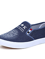 Men's Loafers & Slip-Ons Comfort Summer Fall Synthetic Microfiber PU Casual Flat Heel Navy Blue Light Blue Flat