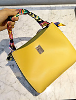 Women Bags All Seasons PU Tote with for Wedding Event/Party Casual Formal Office & Career White Yellow
