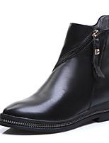 Для женщин Ботинки Верховые ботинки Модная обувь Ботильоны Армейские ботинки Натуральная кожа Кожа Осень Зима Повседневные МолнииНа