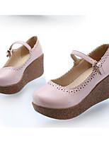 Для женщин Обувь Полиуретан Весна Осень Удобная обувь Обувь на каблуках Назначение Повседневные Красный Синий Миндальный Светло-Розовый