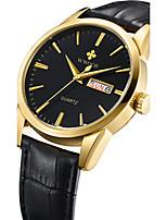 WWOOR Men's Fashion Casual Unique Luxury Genuine Leather Calendar Quartz Watches Clock Relogio Masculino Hodinky Hour Handmade Watch
