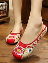 Women's Slippers & Flip-Flops Comfort Summer Fabric Casual Red Flat