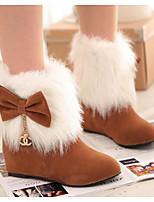 Для женщин Ботинки Удобная обувь Осень Зима Полиуретан Повседневные Коричневый Красный Розовый Менее 2,5 см