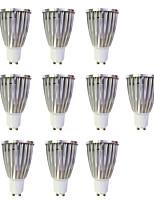 6W Spot LED MR16 1 COB 480 lm Blanc Chaud Blanc AC 100-240 V 10 pièces GU10