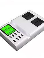 USB-Ladegerät 8 Ports Schreibtisch Ladestation Mit Smart Identification LCD-Display Stand Dock GB Stecker Ladeadapter