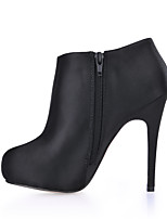 Women's Boots Bootie Spring Fall Silk Wedding Dress Party & Evening Black 4in-4 3/4in