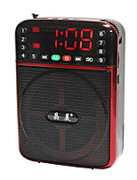 JM9015 Radio portatil Reproductor MP3 Tarjeta TFWorld ReceiverRojo